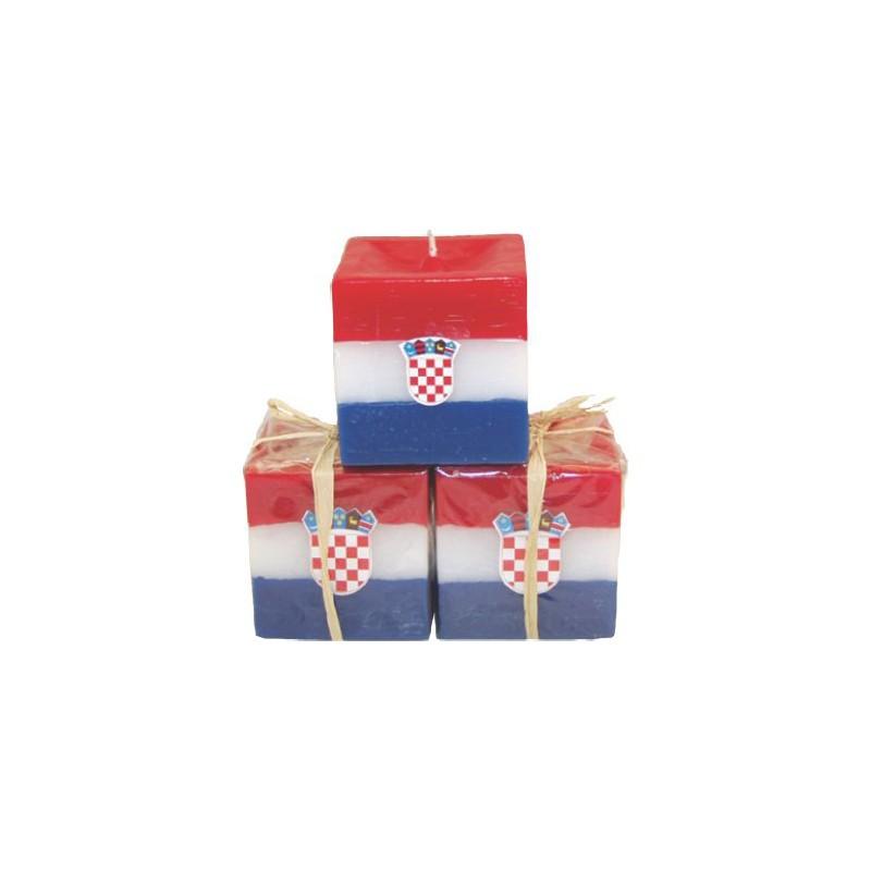 Svijeća kocka mala Hrvatska