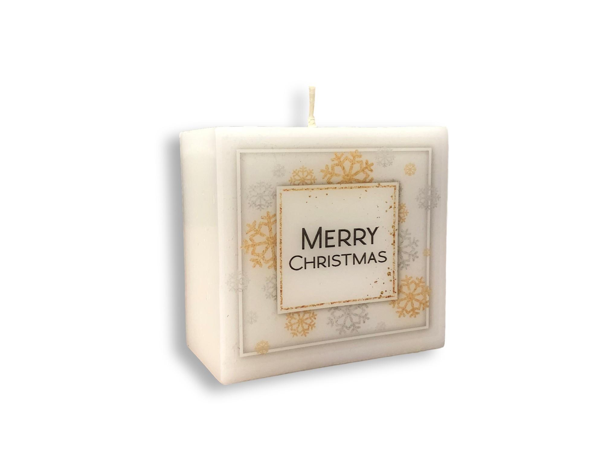 Svijeća pravokutnik 95x45x90 mm božić