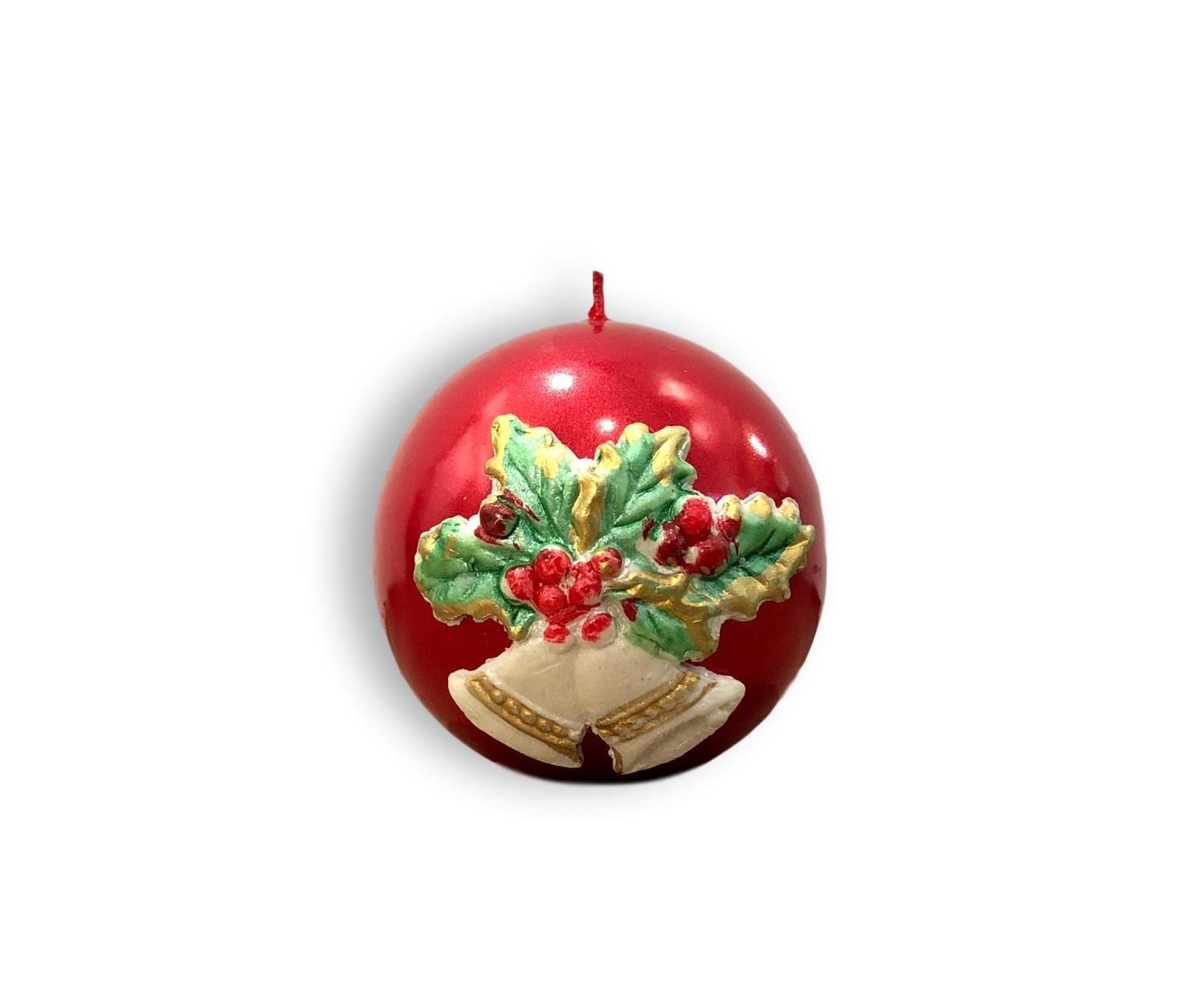 Svijeća kugla s ukrasom božićna