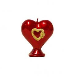 Svijeća srce veće sa ukrasom