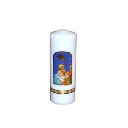 Svijeća sa slikom sred 50 x 210 božićna