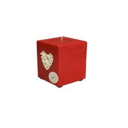Svijeća kocka 95 x 95 x 125 s ukrasom