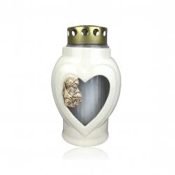 Lampion srce keramičko s ukrasom