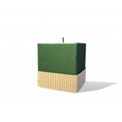 Svijeća kocka 80 x 80 x 85 natur