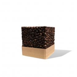 Svijeća kocka kava 95 x 95 x 125