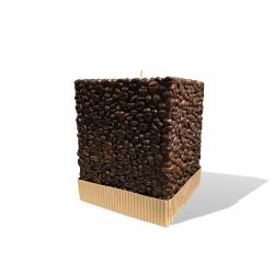 Svijeća kocka kava 120 x 120 x 150