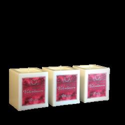 Svijeća kocka Valentinovo personalizirana︱mirisno punjenje